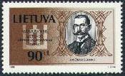 Pašto ženklas su J. Šerno atvaizdu. Dail. J. Zovė. Iš: http://www.filatelija.lt/pz1998.htm