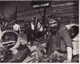 """Filme """"Adomas nori būti žmogumi"""" (rež. Vytautas Žalakevičius). Juozas Miltinis – Kapitono vaidmenyje. 1959 m. PAVB FJM-1012/3"""