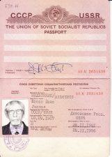 Užsienio pasas, išduotas Juozui Miltiniui kelionei į Prancūziją, su Prancūzijos Respublikos, Beniliukso šalių, Vokietijos Federatyvinės Respublikos vizomis, paso galiojimas 1991 11 28 – 1996 11 28. PAVB FJM-14