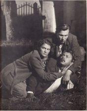 "Filme ""Aušra prie Nemuno"" (rež. A. Faincimeris) Aldona Juodkaitė – Birutė, Juozas Miltinis – Prankus, Algimantas Voščikas – Tauras. 1953 m. PAVB FJM-1012/1"