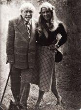 Juozas Miltinis ir žurnalistė Vida Bielskytė. Apie 1984 m. Fotogr. Antano Gylio. PAVB FJM-1013/23