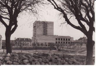 Naujojo Panevėžio dramos teatro (dabar Juozo Miltinio dramos teatras) statyba. 1965–1967 m. PAVB FJM-867/4