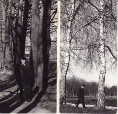 Juozas Miltinis Panevėžyje, Skaistakalnio parke. Apie 1977 m. Fotogr. Edvardo Koriznos. PAVB FJM-1015/4