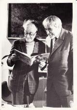 Juozas Miltinis su Žanu Merkiuru (Jean Mercure) Panevėžyje. 1974 m. PAVB FJM-1021/4