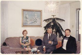 Juozas Miltinis Juozo Kaributo šeimoje Los Andžele (Los Angeles). Apie 1970 m. PAVB FJM-943/1