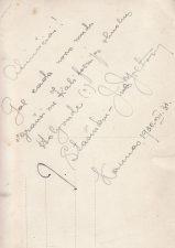 Įrašas kitoje nuotraukos pusėje. PAVB FJM-1014/1
