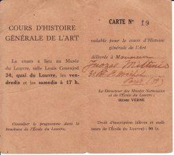 Luvro mokyklos pažymėjimas, 1934–1935 m. PAVB FJM-5/3