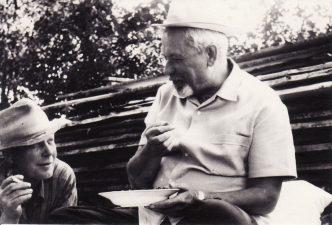 Juozas Miltinis (dešinėje) su broliu Pranu. PAVB FJM-850/6