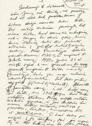 4. Juozo Mėdžiaus laiškas Alytei Zikaraitei (fragmentas). Iš Lietuvos literatūros ir meno archyvo fondų