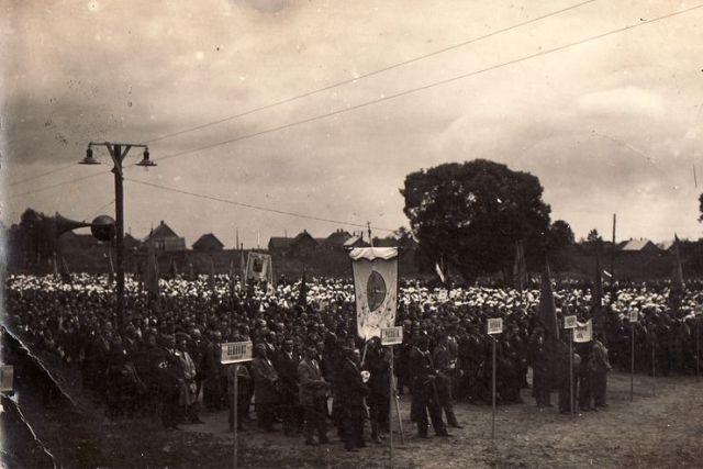 1. Eucharistinis kongresas Panevėžyje 1933 m. liepą. Nuotrauka iš privačios kolekcijos