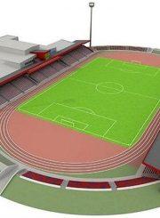 """3. """"Aukštaitijos"""" stadiono renovacijos maketas. 2011 m. Iš interneto svetainės www.futbolas.biz"""