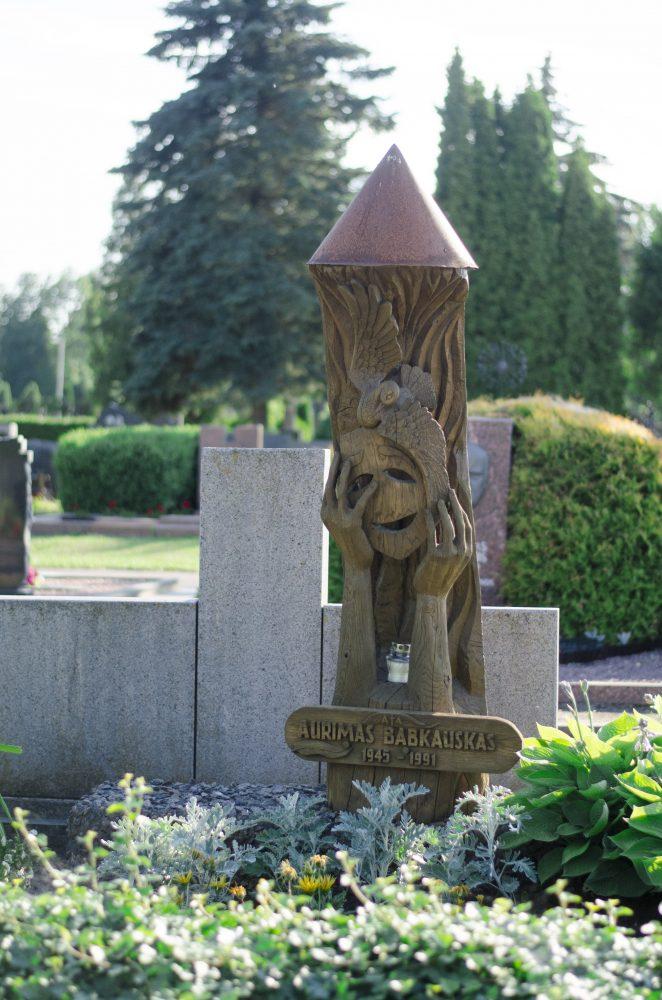 Aurimo Babkausko antkapinis paminklas. Astos Rimkūnienės nuotrauka