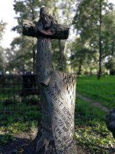 Kaliksto ir Vaclovo Renigerių antkapinis paminklas. Astos Rimkūnienės nuotrauka