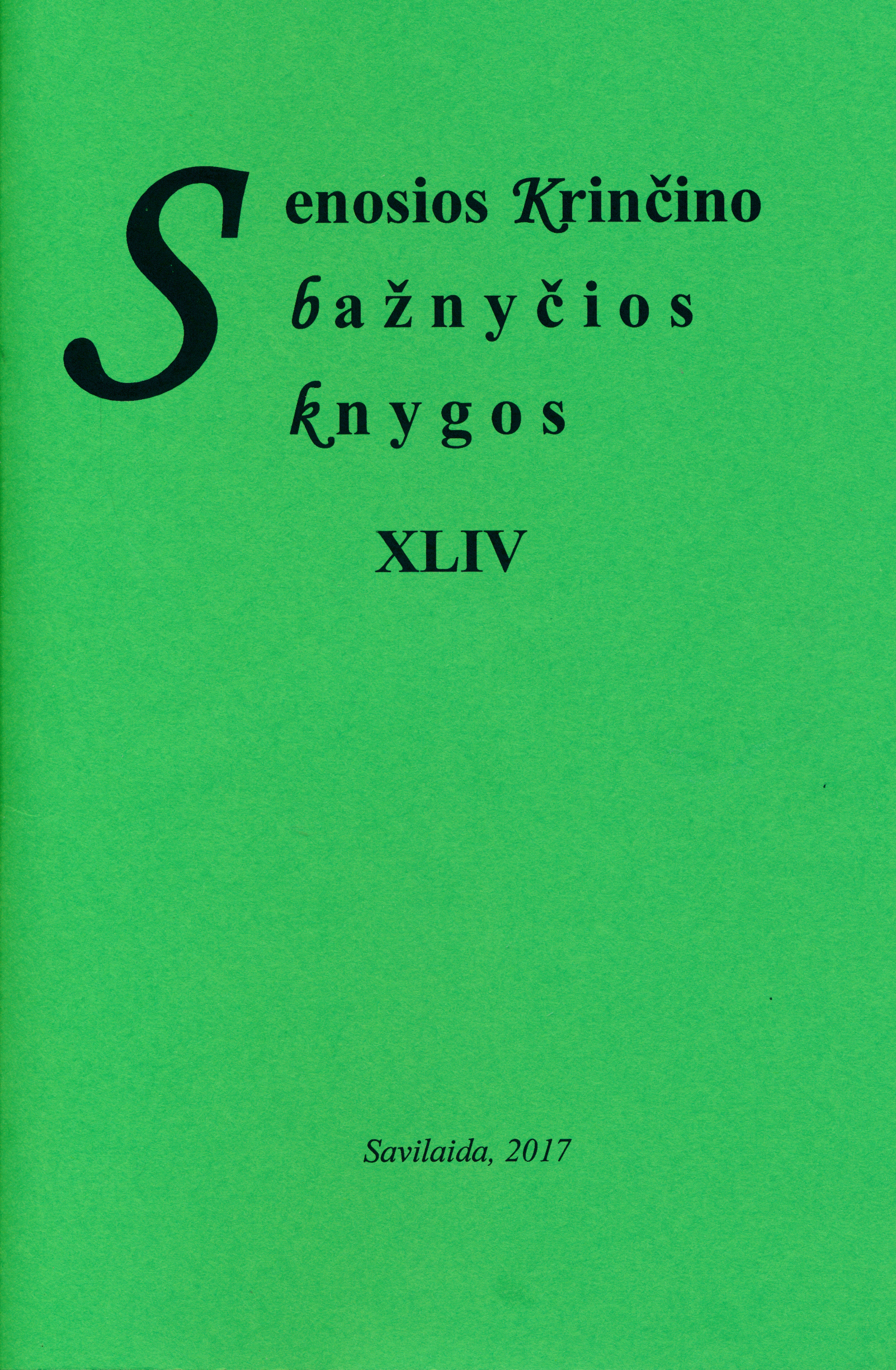 Senosios Krinčino bažnyčios knygos. T. 44