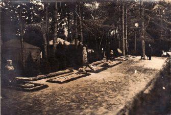 Ketvirtojo pėstininkų Lietuvos karaliaus Mindaugo pulko karių vasaros stovykla Pajuosčio miške. XX a. 3 deš. PKM GEK 17509
