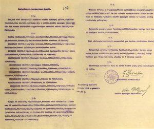 Savanorių šaukimo instrukcija. 1918 12 26. LCVA f. 922, ap. 1, b. 42, l. 157, 158. Iš: http://virtualios-parodos.archyvai.lt/lt/virtualios-parodos/34/90-praeities-akimirku/exh-16/lietuva-1918-1940/case-54#slide3