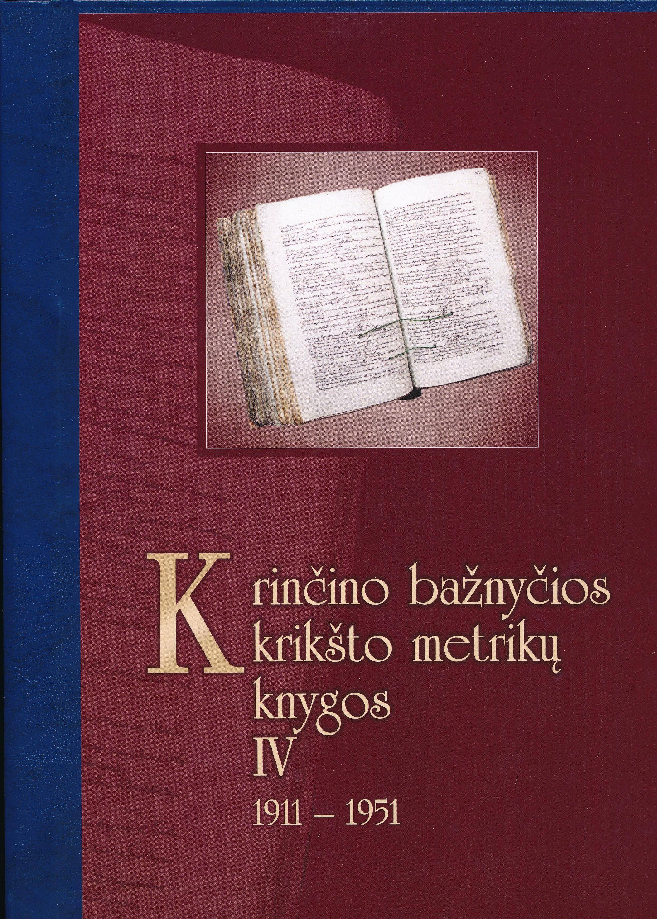 Krinčino bažnyčios krikšto metrikų knygos. T. 4