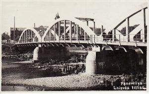 Laisvės tiltas Panevėžyje. 1928 m.