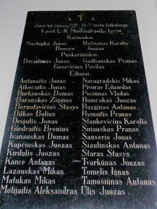Atminimo lenta Panevėžio Švč. Trejybės bažnyčioje 1919–1923 m. žuvusiems už Lietuvos laisvę Ketvirtojo pėstininkų Lietuvos karaliaus Mindaugo pulko kariams. A. Veličkienės nuotrauka