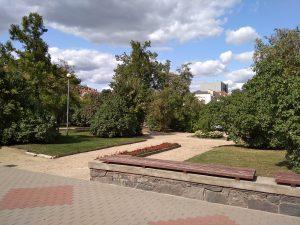 Savanorių aikštė Panevėžyje. A. Veličkienės nuotrauka
