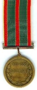 Lietuvos kariuomenės kūrėjų savanorių medalis. 1928 m.