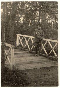 Karininkas Vincas Jonuška. Apie 1920 m. PAVB F52-7