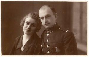 Karininkas, spaudos darbuotojas Vincas Jonuška su žmona Eugenija. Kaunas. [1925 m.]. PAVB F140-18
