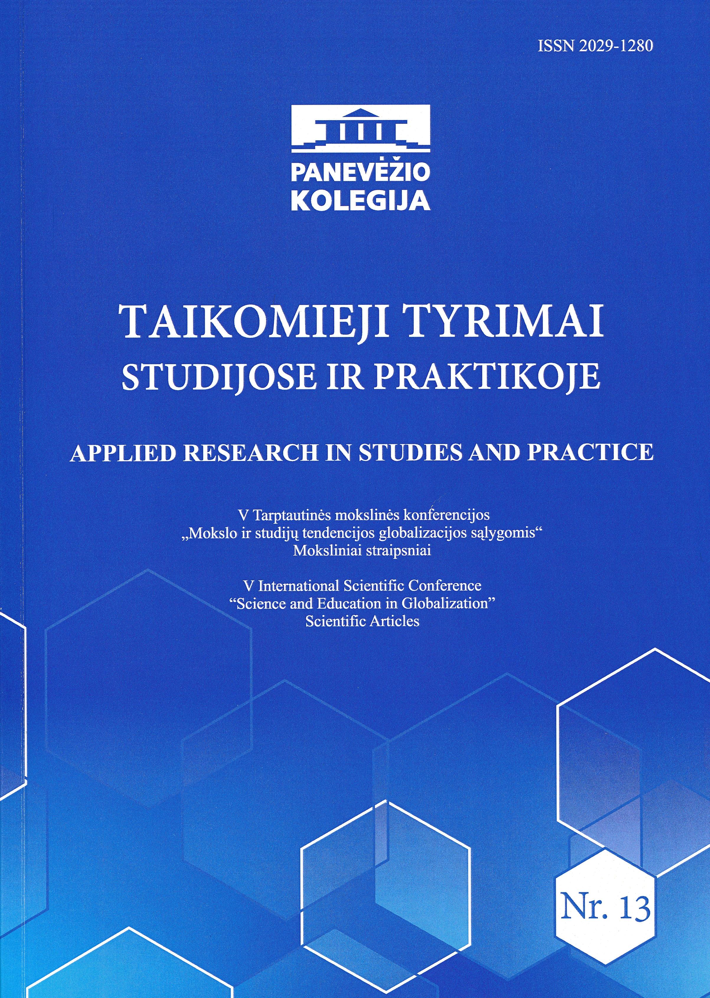 Taikomieji tyrimai studijose ir praktikoje