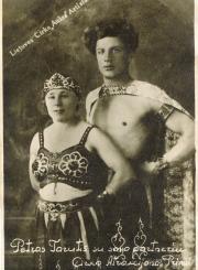 """3. Cirko """"Aušra"""" artistai Aldona ir Petras Taručiai. Nuotrauka iš privačios kolekcijos"""