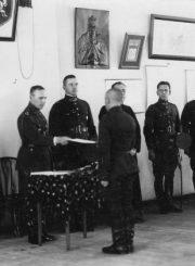 2. Pirmojo artilerijos pulko karininkai. XX a. 4 deš. Nuotrauka iš privačios kolekcijos