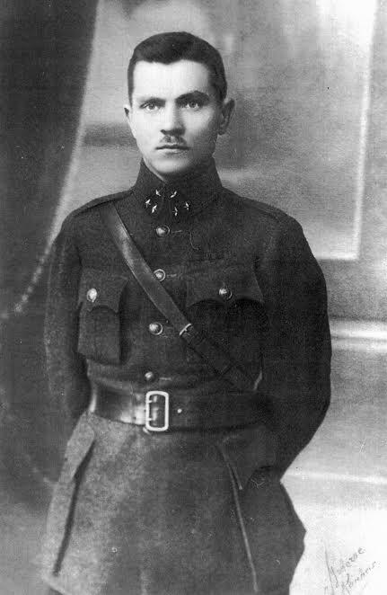 1. Karininkas Jonas Variakojis. Nuotrauka iš Panevėžio kraštotyros muziejaus rinkinio