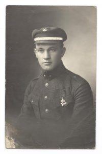 2. Kazimieras Taruška. 1919 m. Nuotraukaiš V. Kavaliausko kolekcijos