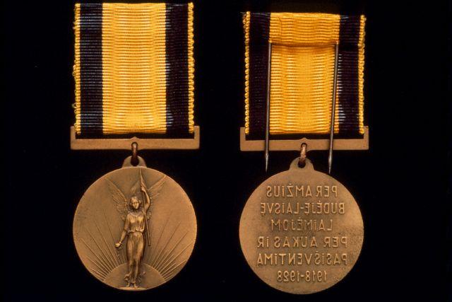 1. Nepriklausomybės dešimtmečio medalis. Nuotrauka iš privačios kolekcijos