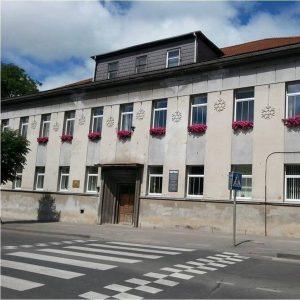 """Šiame pastate veikė Ukmergės valstybinė mokytojų seminarija. Dabar čia įsikūręs Ukmergės """"Ryto"""" specialiosios mokyklos skyrius (Vytauto g. 20). Nuotrauka iš www.facebook.com/rytospecialiojimokykla/"""