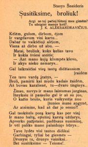 Šneideris, Stasys. Susitiksime, broliuk! // Panevėžio garsas, 1938, lapkr. 19, p. 2