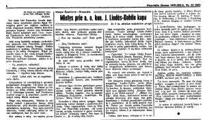 Šneideris-Diemedis, Stasys. Mintys prie a. a. kun. J. Lindės-Dobilo kapo: Jo 5 metų mirties sukakties proga // Panevėžio garsas, 1939, gruod. 2, p. 4