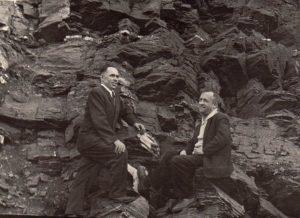 Stasys Šneideris su likimo draugu Juozu Biguzu. Ust Omčiugas (Tenkos r., Magadano sr.). 1970 m. Nuotrauka iš Jūratės Šneiderytės-Degutienės asmeninio archyvo