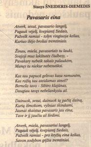 Šneideris, Stasys. Meilė žemei; Pavasaris eina // Panevėžio rytas, 1995, birž. 9, p. 9