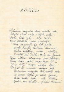 """Kalėdos: [eilėraštis iš ruošto spaudai eilėraščių rinkinio """"Pašvaistė""""]. PAVB F51-23"""