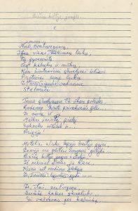 Šneideris Stasys. Stelmužės ąžuolas: [istorinė poema: juodraštis]. Subačius (Kupiškio r.). Apie 1981–1983 m. PAVB F51-27