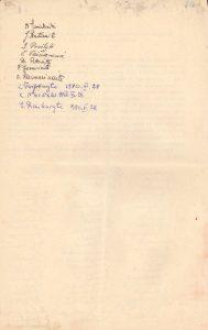 Ukmergės valstybinės mokytojų seminarijos I-osios laidos absolventų susitarimo aktas dėl susitikimų organizavimo. Ukmergė. 1940.06.15. Iš Jūratės Šneiderytės-Degutienės asmeninio archyvo
