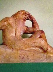 """2.""""Nevėžio"""" skulptūros gipsinis maketas, saugomas Salomėjos Nėries memorialiniame muziejuje Palemone. S. Nėries memorialinio muziejaus nuotrauka"""