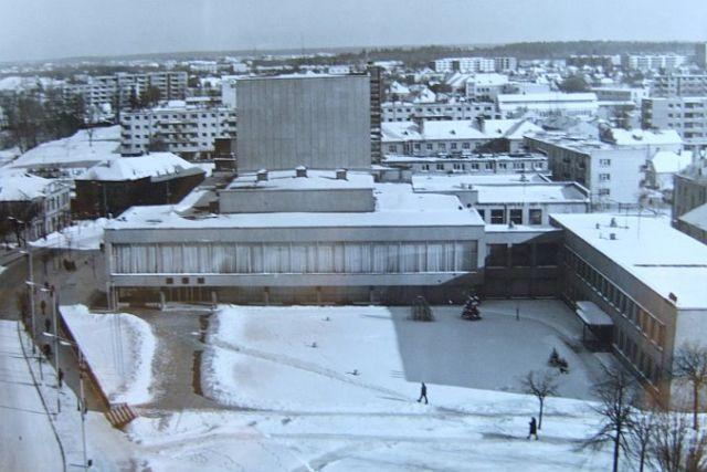 1. Naujieji Panevėžio statiniai. 1978 m. Nuotrauka iš www.miestai.net