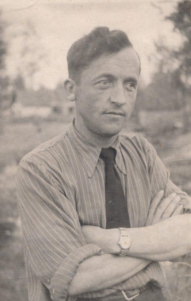 Stasys Šneideris tremtyje. Ust Omčiugas (Tenkos r., Magadano sr.). 1953 m.