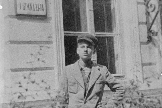 """""""Šarūno"""" pogrindinės organizacijos vadovas Vytautas Misevičius. Apie 1946 m. Nuotrauka iš privačios kolekcijos"""