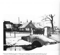 1. Vytauto Didžiojo gatvė. Tiltas per Laukupę (vaizdas į pietvakarių pusę)