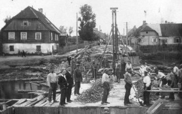 3. Tilto per Apaščią statyba 1931 m.