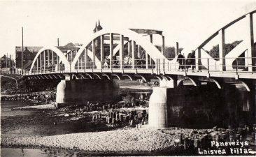 3. Laisvės tiltas Panevėžyje. Apie 1935 m.