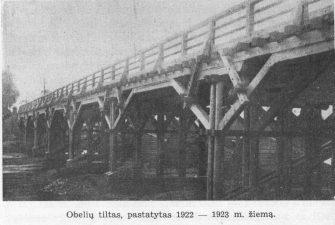 3. Obelių tiltas, pastatytas 1922–1923 m. žiemą