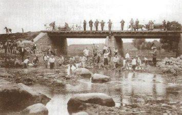 5. Melioracijos darbai Lėvens slėnyje apie 1931 m. Kupiškio Zuntės tiltas